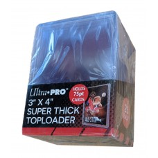 Pack of 25 Ultra Pro 75pt Thick Trading Card Hard Plastic Topload Holders