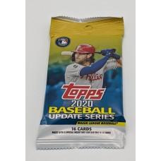2020 Topps MLB Baseball Cards Update Series Unopened 16 Card Retail Pack