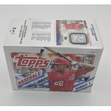 Factory Sealed 7 Pack Blaster Box 2021 Topps Series 1 Baseball Cards