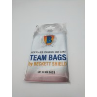 Pack of 100 Beckett Shield Resealable Standard Size Trading Card Team Set Bags