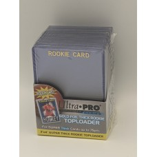 Pack 25 Ultra Pro Gold Foil 75pt Thick Rookie Card Hard Plastic Topload Holders