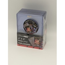 Pack 25 Ultra Pro 3x4 Gold Foil Mixed Title Topload Plastic Trading Card Holders