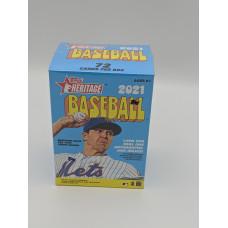 Factory Sealed 2021 Topps Heritage Baseball Cards 8 Pack Blaster Box