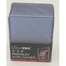 Pack of 25 Ultra Pro 3x4 Clear Hard Plastic Premium Trading Card Topload Holders