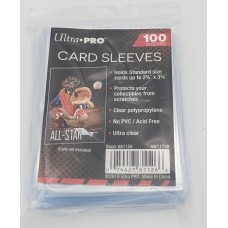 Pack of 100 Ultra Pro Soft Poly Trading Card Sleeves - 2 5/8 x 3 5/8