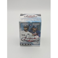 Factory Sealed 8 Pack Blaster Box 2021 Topps Chrome Major League Baseball Cards