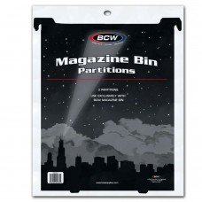 Pack of 3 BCW Black Plastic Magazine Document Bin Partitions dividers spacers