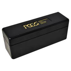 Official PCGS 20 Graded Coin Slab Black Plastic Storage Box