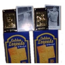 Babe Ruth and Lou Gehrig 22Kt Gold Legends Baseball Cards