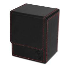 BCW Black Deck Case LX Gaming Card Leatherette Storage Box