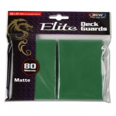 Pack of 80 BCW Green Matte Elite Deck Guard CCG Gaming Card Protective Sleeves