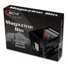 BCW Plastic Black Heavy Duty Acid Free Stackable Magazine / Document Storage Bin