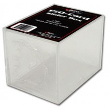 One New BCW 150 Count Trading Card Plastic Slider Box