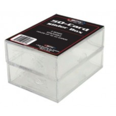 Pack of 2 BCW 50 Count Trading Card Plastic Slider Boxes
