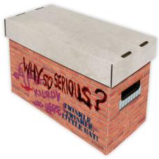 BCW Short Cardboard Comic Book Storage Box with Brick Graffiti Art Design