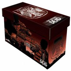 BCW Short Cardboard Comic Book Storage Box The Walking Dead Saviors Art Design