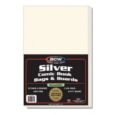 Case / 500 BCW Resealable Silver Comic Book Bags + Backer Boards