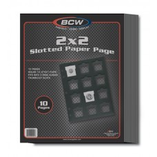 Pack of 10 BCW Slotted Black Paper Pages For 2X2 Coin Holders