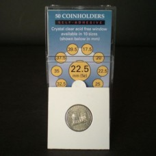 Pack of 50 SuperSafe 2x2 Self Adhesive Nickel Paper Coin Flips