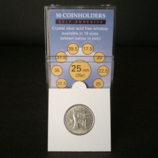 Pack of 50 SuperSafe 2x2 Self Adhesive Quarter Paper Coin Flips