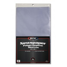 Case of 1000 BCW 12 x 16 Newspaper Acid Free Poly Sleeves 12x16