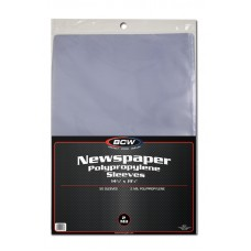 Case of 1000 BCW 14 x 19 Newspaper Acid Free Poly Sleeves 14x19