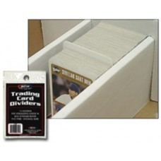 Pack of 10 BCW Trading Card Dividers - 2 11/16 x 3 13/16
