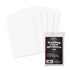 Pack of 10 BCW White Plastic Tall Trading Card Dividers