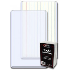 Pack of 25 BCW 3 x 5 Photo / Index Card Size Topload Holders
