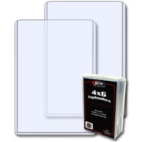 Case of 500 BCW 4 x 6 - Topload Photo / Postcard Holders 4X6