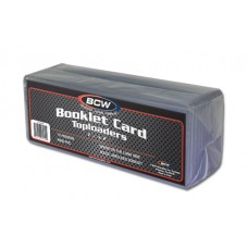 Pack of 10 BCW Booklet Trading Card Hard Plastic Topload Holders