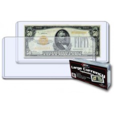 Pack of 25 BCW Large US Currency Hard Plastic Topload Holders
