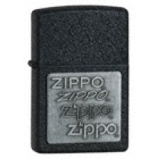 Zippo Lighter 363 Black Crackle with Zippo Pewter Emblem