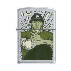 Satin Chrome Zippo Lighter Hip Hop Heavy Design