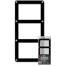 BCW Triple Trading Card Black Border Screwdown Holder Display