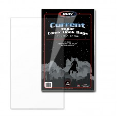 Case of 250 BCW Current / Modern Comic Book Mylar Bags 4 Mil