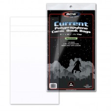 Pack of 100 BCW Resealable Current Comic Book Poly Bags - 6 7/8 x 10 1/2