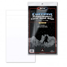 Case of 1000 BCW Current Thick Comic Book Poly Bags - 7 x 10 1/2