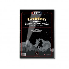 Pack of 50 BCW Golden Age Comic Book Mylar Bags 2 Mil