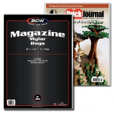 Case of 500 BCW Magazine Mylar Bags 2 Mil