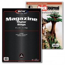 Case of 250 BCW Magazine Mylar Bags 4 Mil