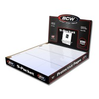 Case of 1000 BCW Pro 9-Pocket Baseball /Trading Card Album Pages