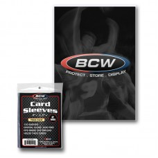 Pack of 100 BCW Thick Trading Card Sleeves- 2 3/4 x 3 13/16