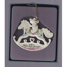Lenox 1997 Baby's First Christmas Rocking Horse Ornament babys 1st rockinghorse
