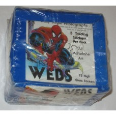 Factory Sealed Box 1991 Spider-Man Webs McFarlane Art Trading Sticker Cards