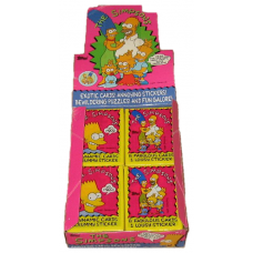 One Unopened Wax Pack 1990 Topps The Simpsons Trading Cards