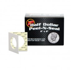 Pack 100 BCW Self Adhesive 2x2 Paper Half Dollar Coin Flips Peel-n-Seal holders