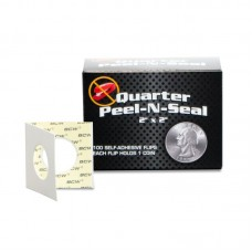 Pack of 100 BCW Self Adhesive 2x2 Paper Quarter Coin Flips Peel-n-Seal holders