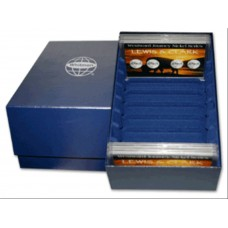 Whitman 3x5 Frosty Case Blue Coin Storage Box