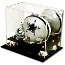 BCW Deluxe Acrylic Mini Helmet Display With Mirror and Wall Mount